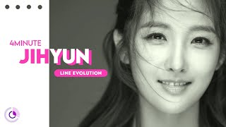 4MINUTE (포미닛) - JIHYUN ( Line Evolution ) (2009 - 2016)