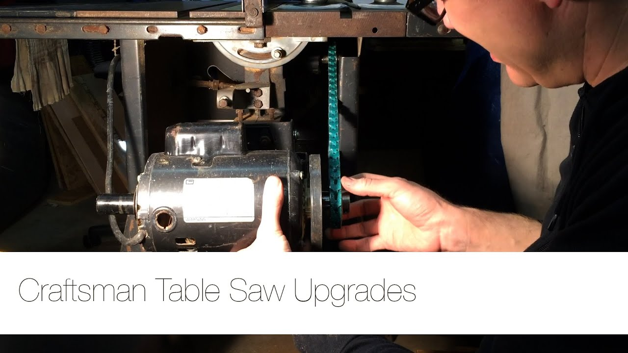 Shop update craftsman table saw upgrades youtube greentooth Gallery