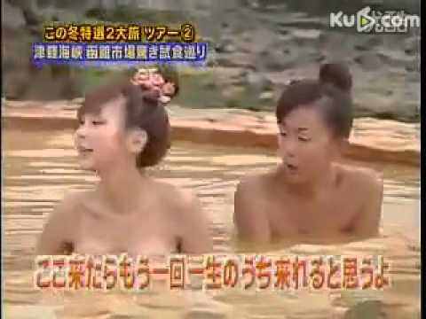 女子アナ温泉取材 裸で入浴