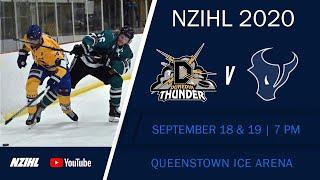 NZIHL 2020 | SOUTH ISLAND: Dunedin Thunder v SkyCity Stampede - Sep  19