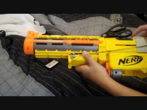 Nerf Shotgun Mod - Pump Action - YouTube