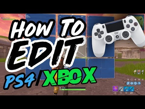 How to Edit FASTER on Controller Fortnite! (PS4/XBOX Console Editing Tips/Guide)