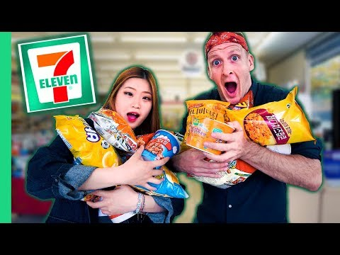 10 KOREAN FOODS You've Never Seen! UNIQUE Korean 7-Eleven Tour in Seoul
