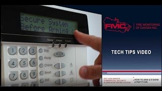 How to Arm and Disarm a Partition on a DSC Maxsys 4020 Commercial Security Alarm System