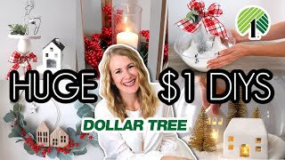 HUGE DOLLAR STORE CHRISTMAS DIYS...for non crafty people (and they look Pottery Barn high end!)