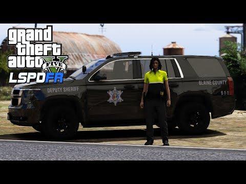 GTA 5 - LSPDFR 0.4.2 - Blaine County Sheriffs Office Female Patrol