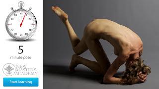 Drawing Image Set: Art Model Reference (DLDS # 22) - 4K Timed Nude Figure Life Models Session