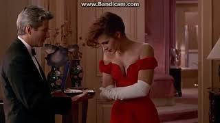 """Фильм """"Красотка"""", сцена с ожерельем, настоящий смех Джулии"""