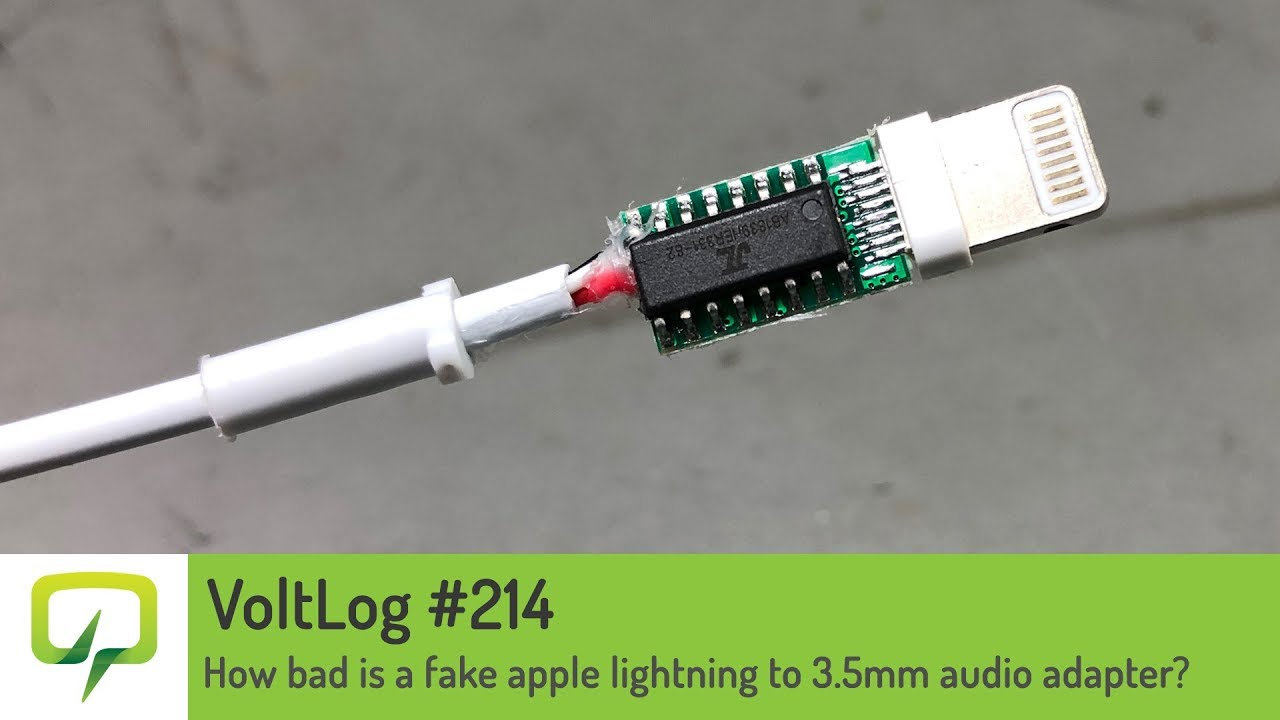 apple lightning cable wiring diagram voltlog 214 how bad is a fake apple lightning to 3 5mm audio  fake apple lightning to 3 5mm audio