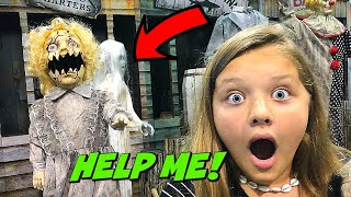 SCARED TO DEATH By CREEPY DOLL At SPIRIT HALLOWEEN STORE!! New Halloween Animatronics 2019
