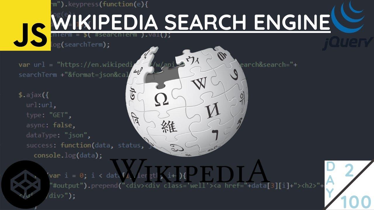 Javascript Wikipedia API - [2021]  - jQuery Wikipedia Search Engine Coding Challenge #2