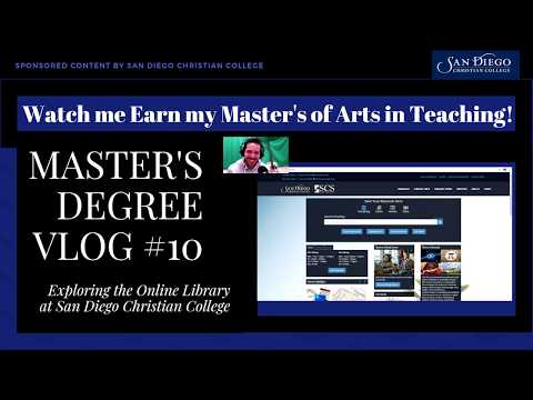 Master's Vlog #10 - Researching Using the Online Library  at San Diego Christian College