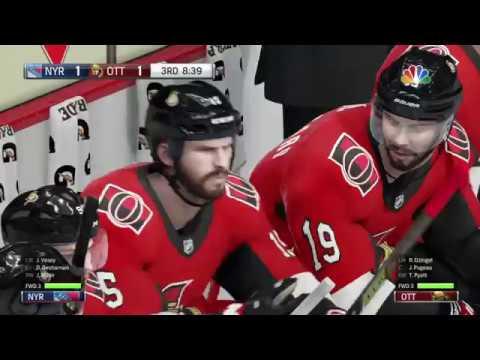 NHL® 18 N.Y rangers vs Ottawa Senators