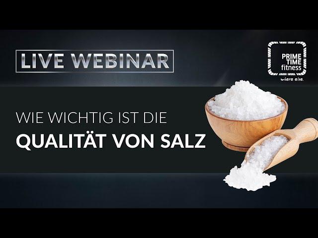 Welche Salze sollte man verwenden?