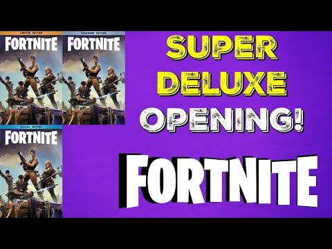 Upgrading From Deluxe To Super Deluxe Founders Pack (Whats Inside ?) (Fortnite Save The World)