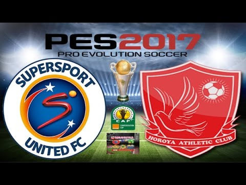PS4 PES 2017 Gameplay Supersport United vs Horoya AC HD
