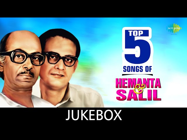 Top 5 Songs Of Hemanta & Salil   Dhitang Dhitang   Amay Prashna Kare   Path Harabo Bolei