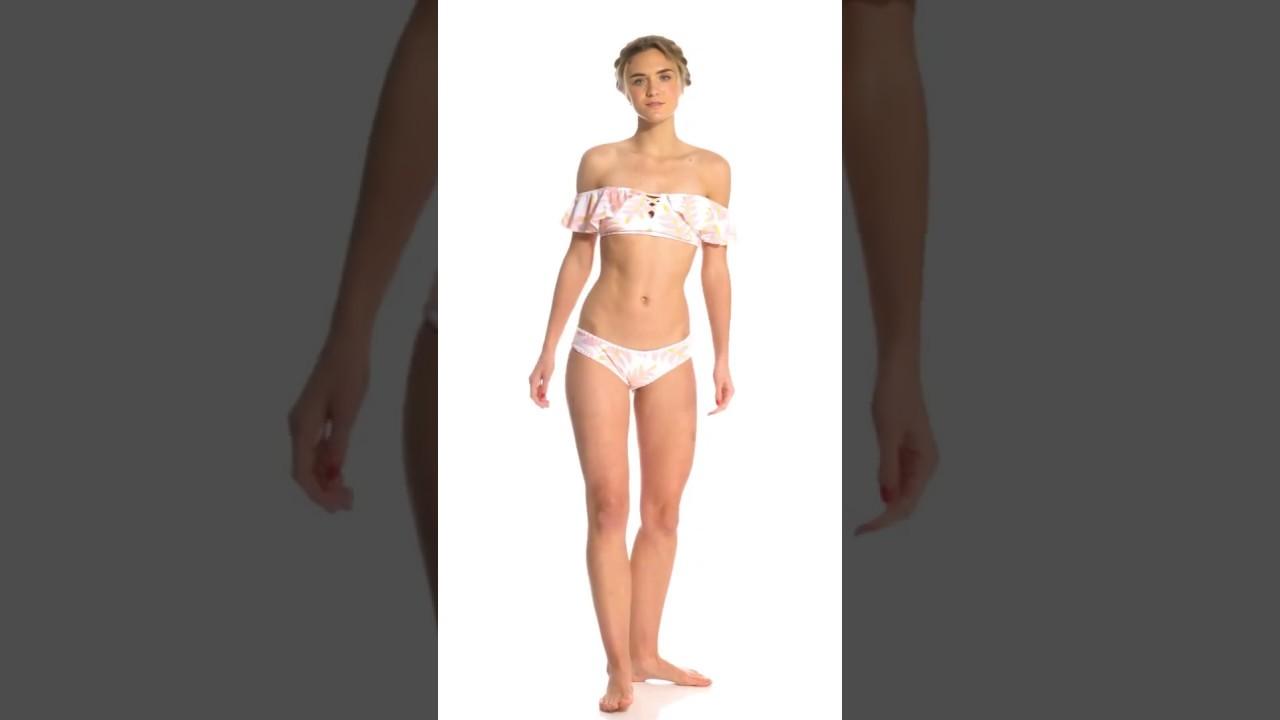 096ce8331b Raisins Paradise Bound Tulum Flounce Bikini Top