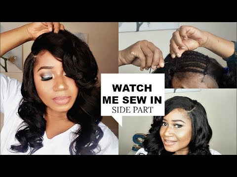Watch Me Sew In Lace Closure Side Part Youtube