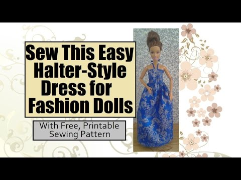 Easy Sewing Projects for Kids: Halter Style Dress for Barbies ...