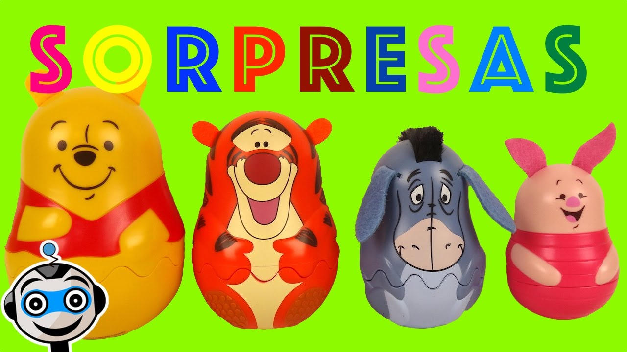 winnie the pooh russian dolls with surprise eggs youtube