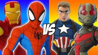 Iron Man And Spiderman Vs Captain America Ant Man Disney Infinity 3.0 Marvel Bat