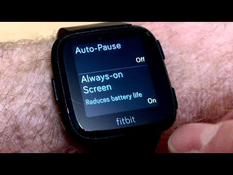How To Set FitBit Versa To Always On Mode