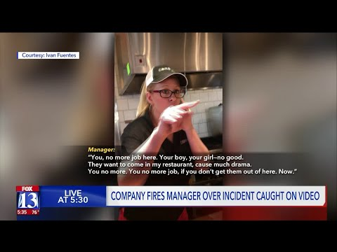 Restaurant manager fired over videotaped dispute with Latina employee, children