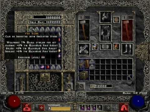 Diablo II patch 1.13c - All your Rune are belong to US - YouTube