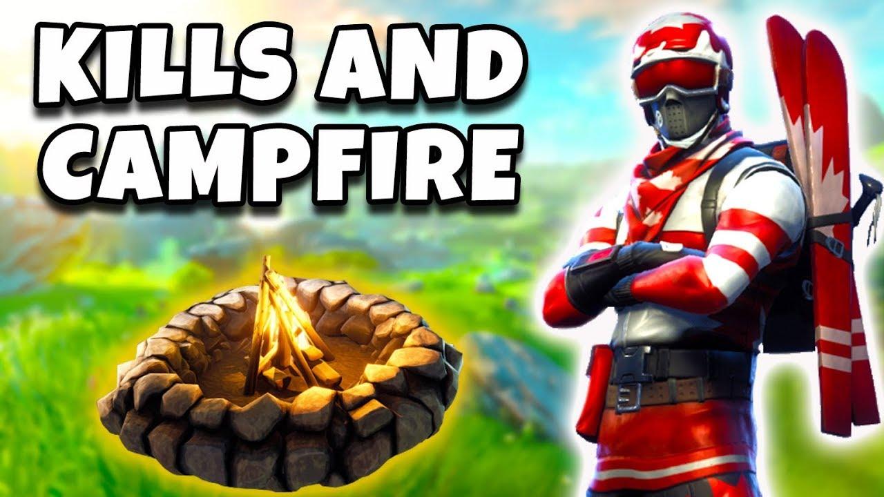 EPIC KILLS AND CAMPFIRES! (Fortnite Battle Royale!)