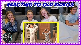 REACTING TO OUR OLD VIDEOS - JUST TRY NOT TO LAUGH!