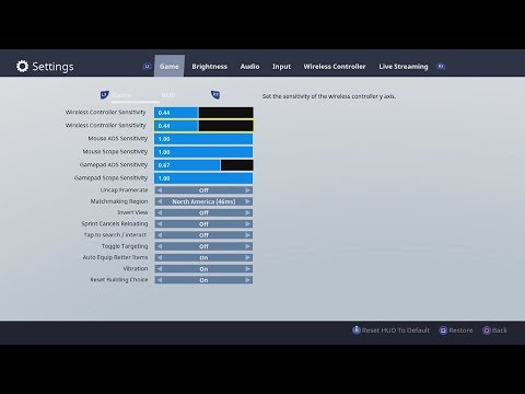 How to Fix Aiming Sensitivity / Movement Settings in Fortnite Battle Royale