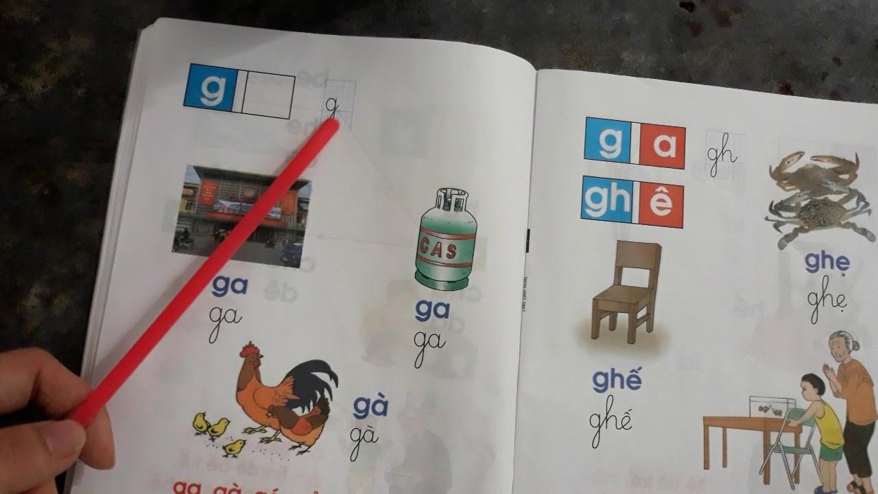 Học cùng con – tiếng việt lớp 1 –  công nghệ giáo dục tập 1 – quy tắc chính tả phân biệt c/ k, g/ gh