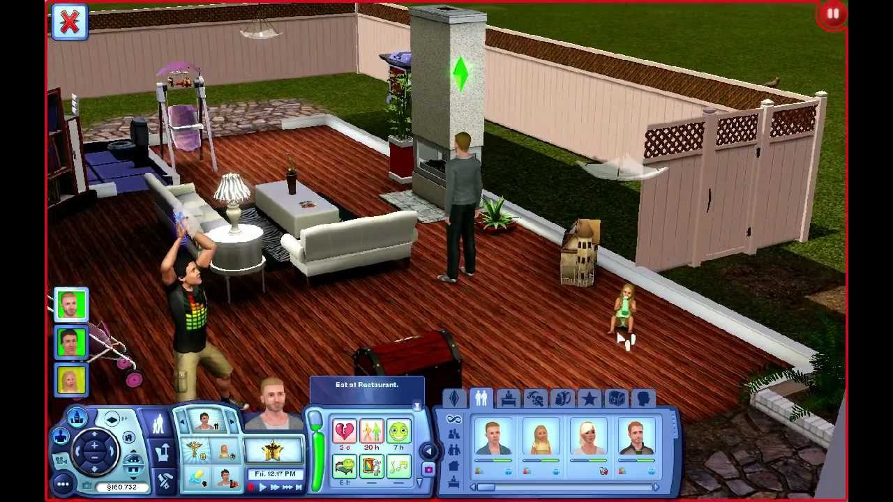 sims 3 how to get sim out of active household