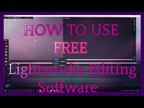 How To Edit With Lightworks FREE Version - Part 1