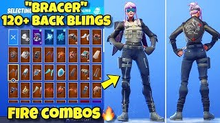 "NEW ""BRACER"" SKIN Showcased With 120+ BACK BLINGS! Fortnite Battle Royale (BEST BRACER SKIN COMBOS)"