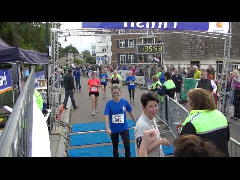 AV de Gemzen Bank tot Bank 5km finish met ondertiteling (klok is 15km tijd)