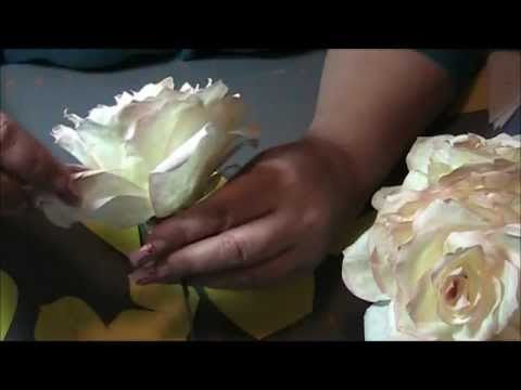 how to make a coffee filter rose step by step youtube