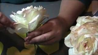 Repeat youtube video How to make a coffee filter rose step by step.