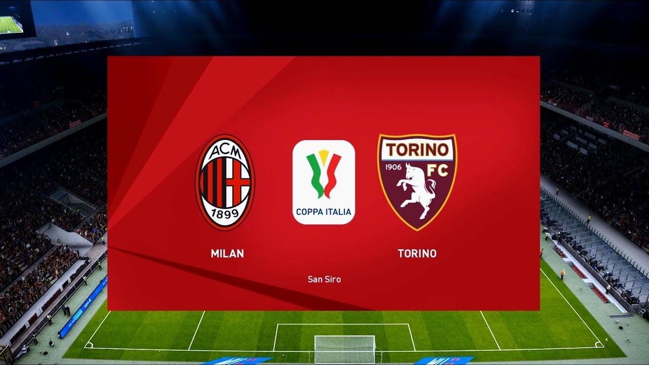 AC Milan vs Torino | San Siro | 2019-20 Coppa Italia | PES 2020 - YouTube