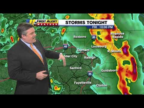 NC Weather: Severe Storms Expected Friday, Tornadoes Possible