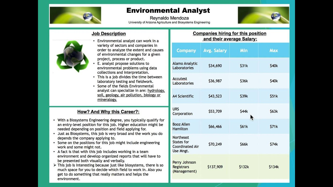 Environmental Analyst YouTube