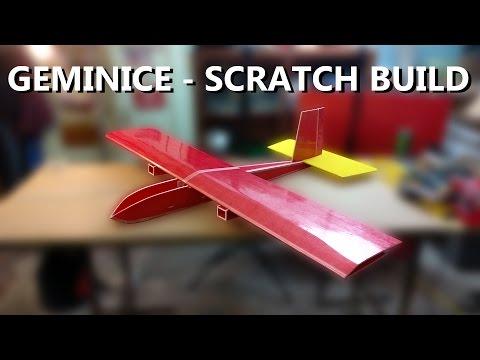 GemiNice Scratch Build (1/3) - Twin motor Depron Plane Heavy Lift FPV Slow Flyer