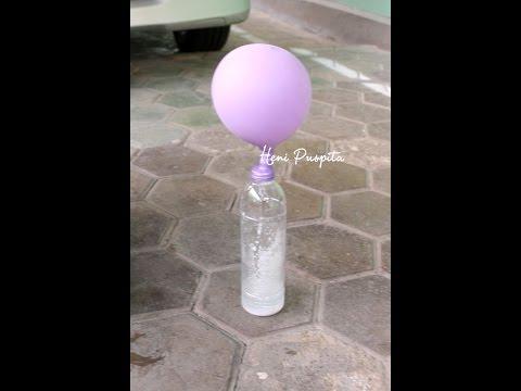 cara membuat balon udara dari soda kue cuka