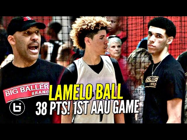 lamelo-ball-gets-saucy-in-1st-aau-game-w-lavar-coaching-lonzo-watching-melo-leads-team-win