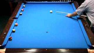Honduran Rotation Pool, perfect run out (pocket billiards) - toggle Mute when chalking!  :)