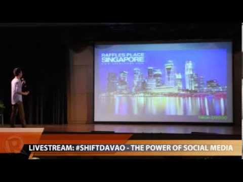 Jaypee David at the #SHIFTDavao Social Media Conference