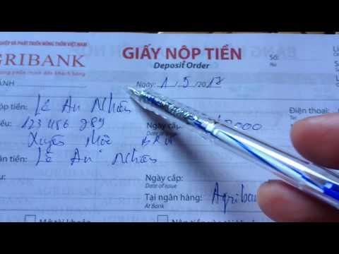 Agribank : Cách Ghi Giấy Chuyển Tiền   Nộp Tiền Vào Thẻ ATM