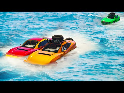 IMPOSSIBLE DRIVING ON WATER! (GTA 5 Funny Moments)