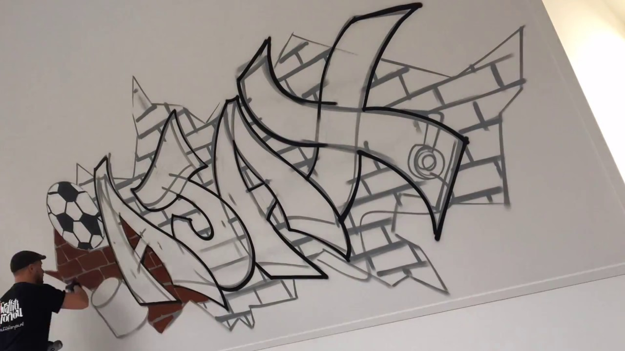 Slaapkamer Graffiti voor Lucas, thema: Ajax - YouTube